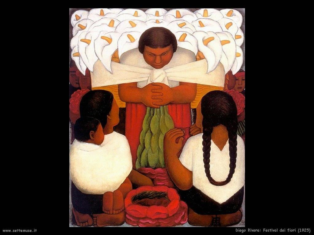 Diego Rivera festival dei fiori 1925