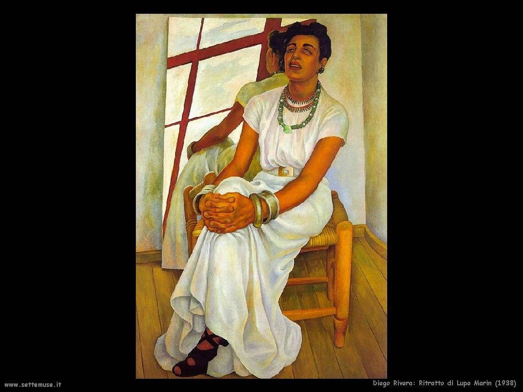 Diego Rivera ritratto lupe marin 1938