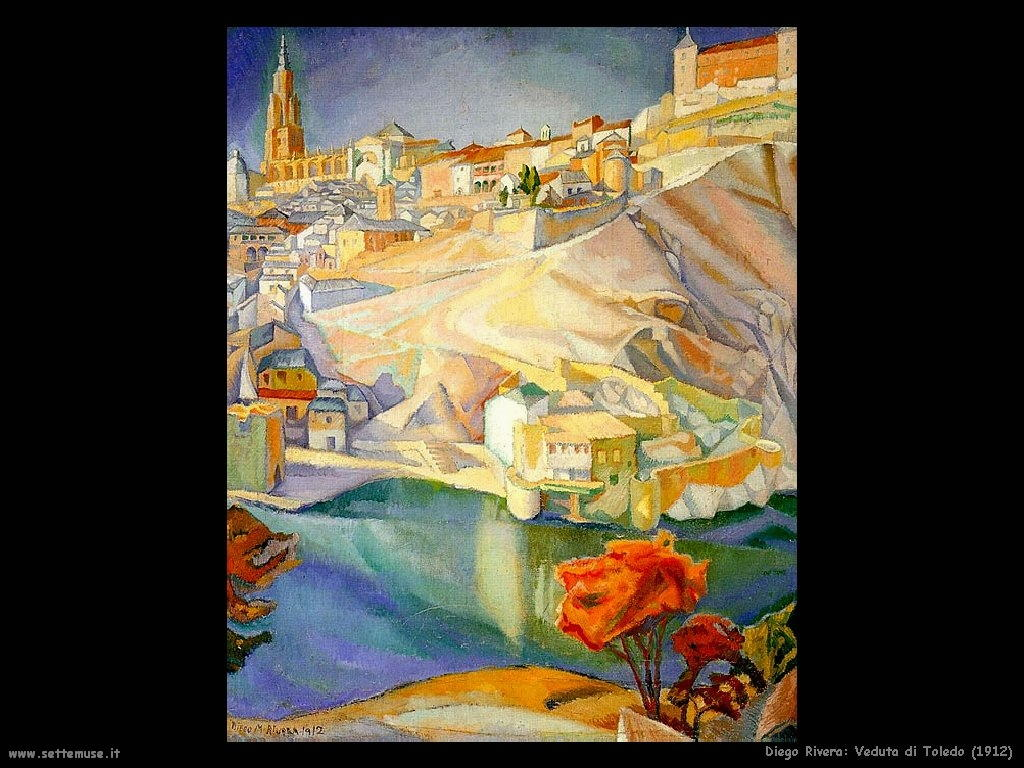 Diego Rivera veduta di toledo 1912