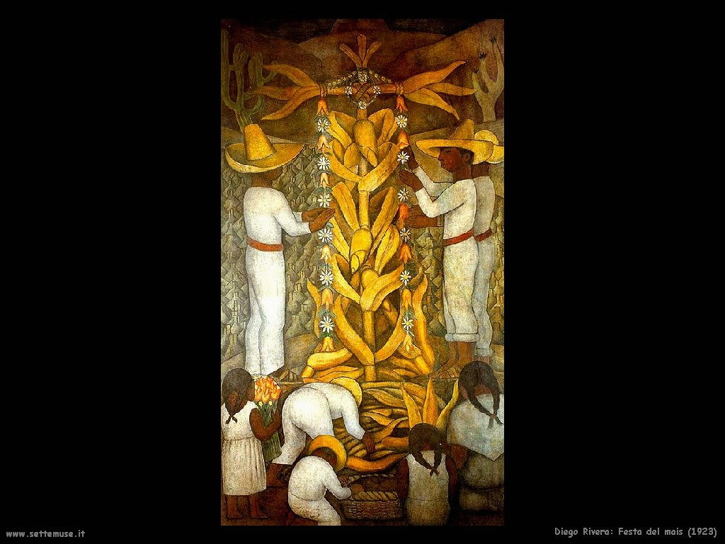 Diego Rivera festa del mais 1923