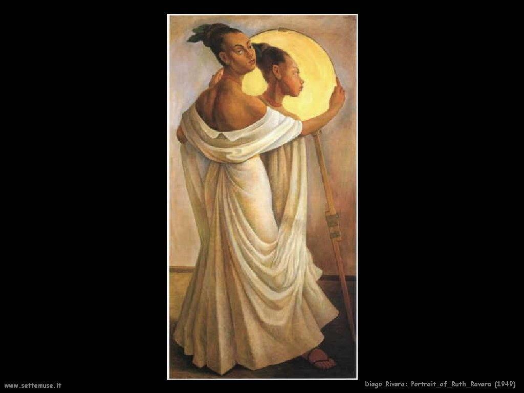 Diego Rivera Ritratto di ruth ravera 1949