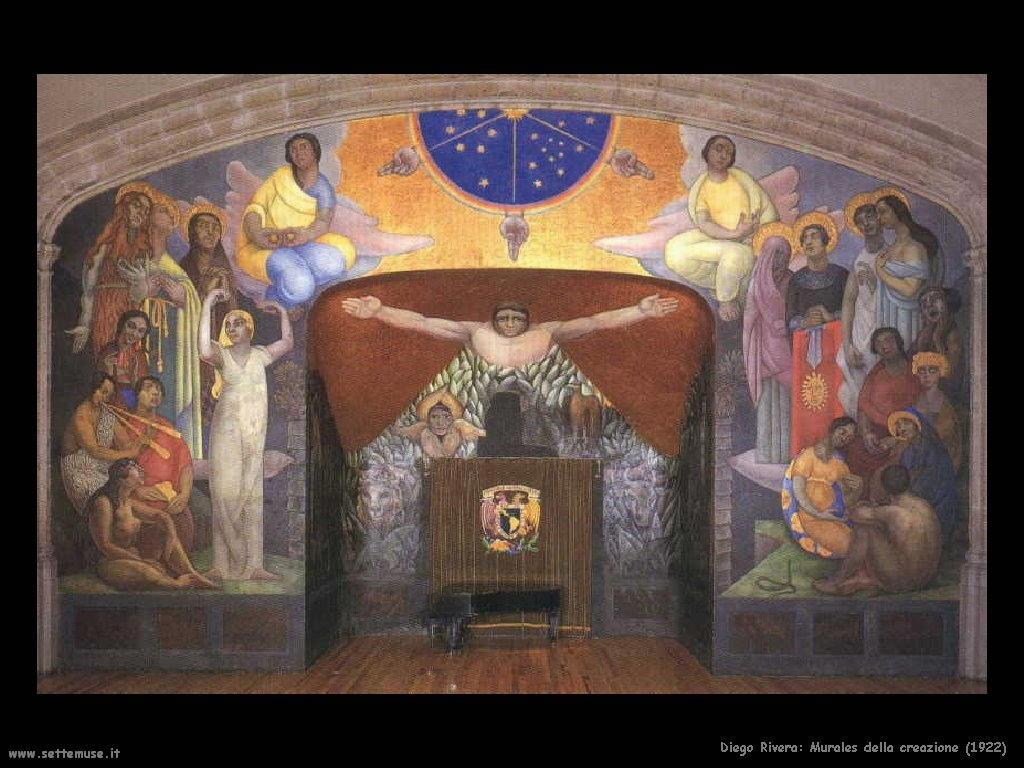 Diego Rivera murales della creazione 1922