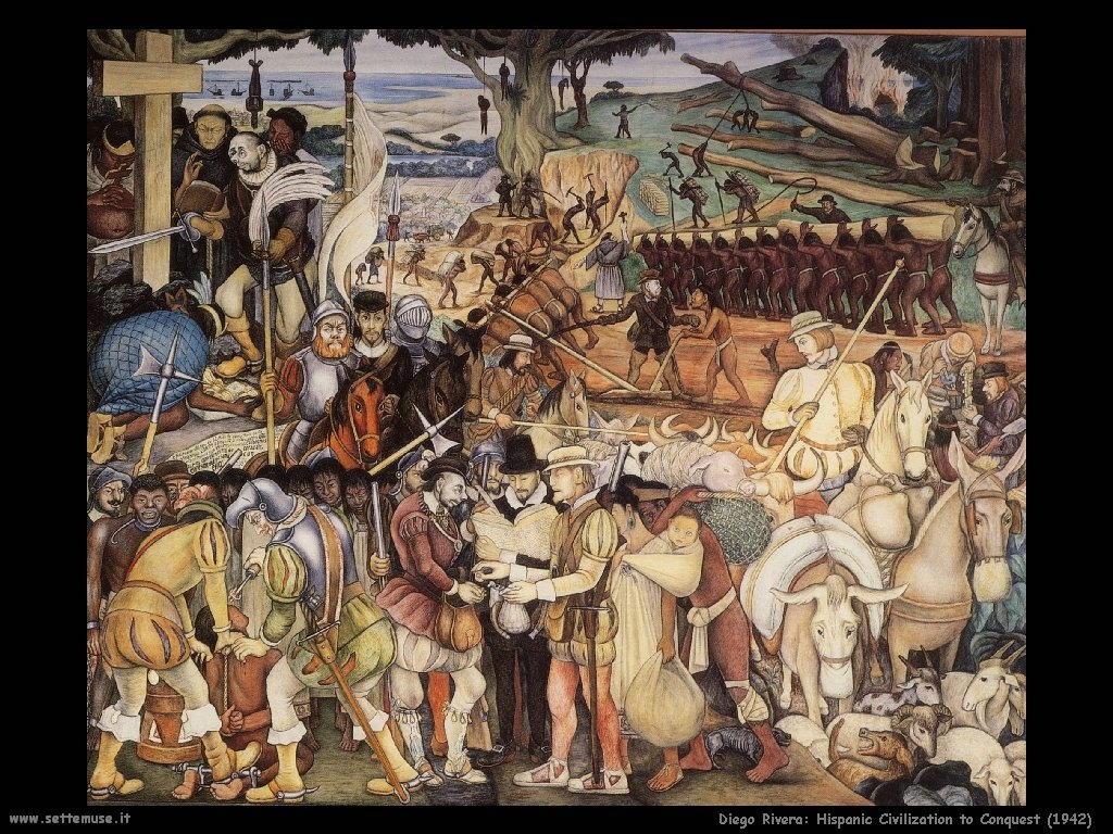 Diego Rivera La civiltà ispanica alla conquista 1942