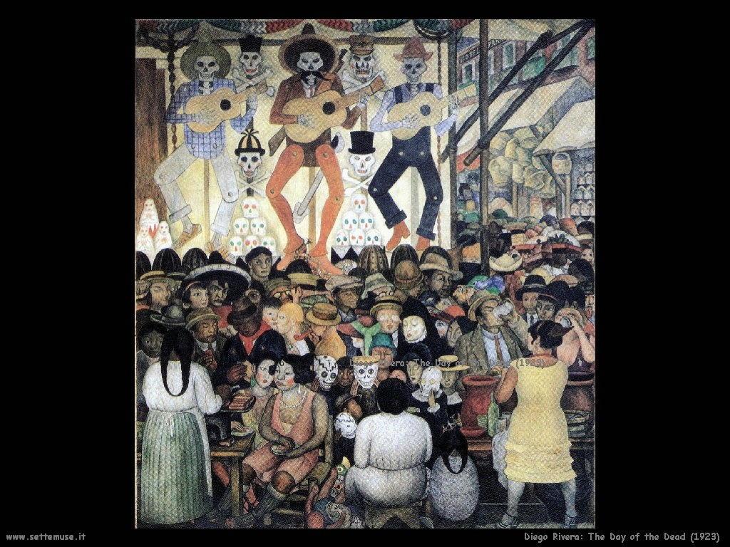 Diego Rivera Il giorno della morte (1923)
