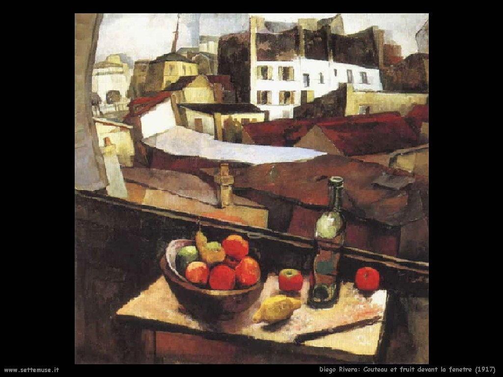 Diego Rivera coteau e frutta 1917