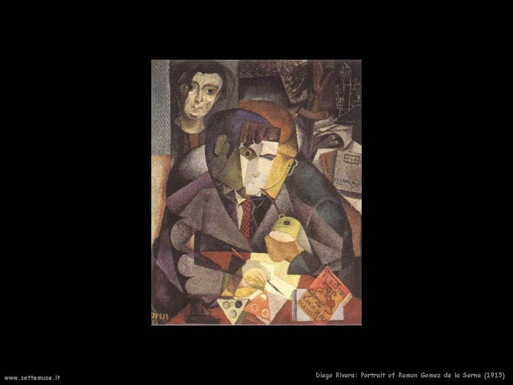 Diego Rivera Ritratto di Ramon Gomez de la Serna 1915