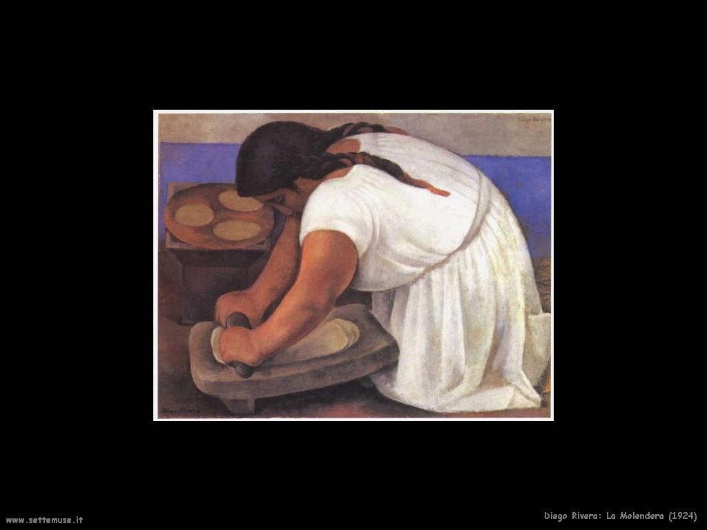 Diego Rivera La Molendera 1924