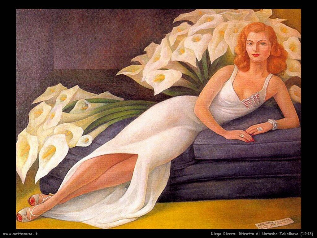 Diego Rivera Ritratto di natasha zakolkova gelman 1943