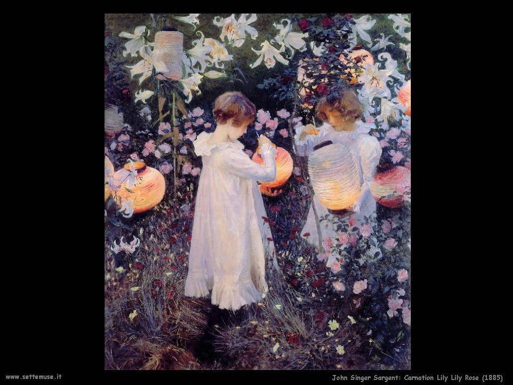 John Singer Sargent Carnation_Lily_Lily_Rose