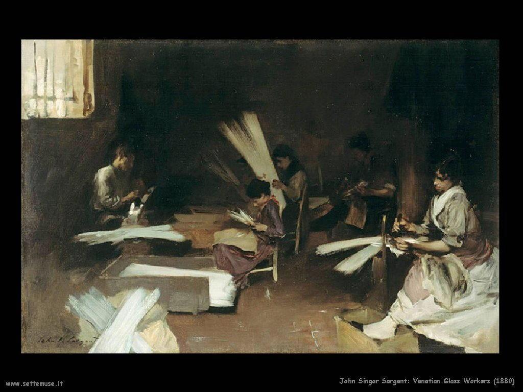 Veneziano lavoratore di vetro(1880) John Singer Sargent