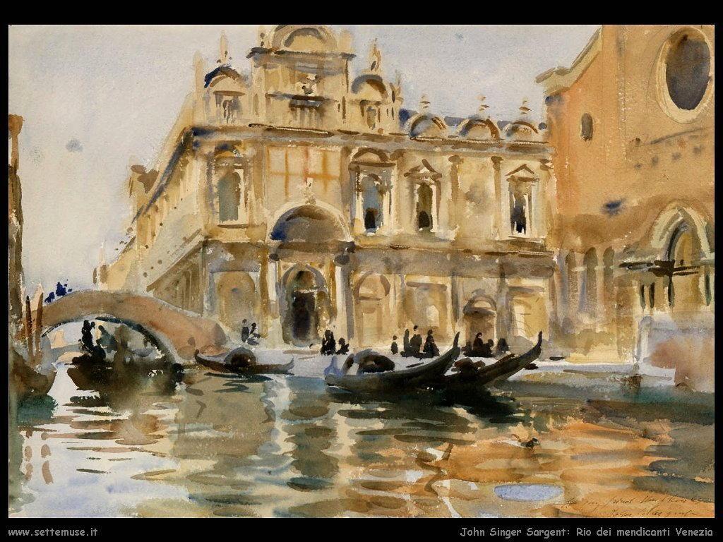 John Singer Sargent rio mendicanti venezia