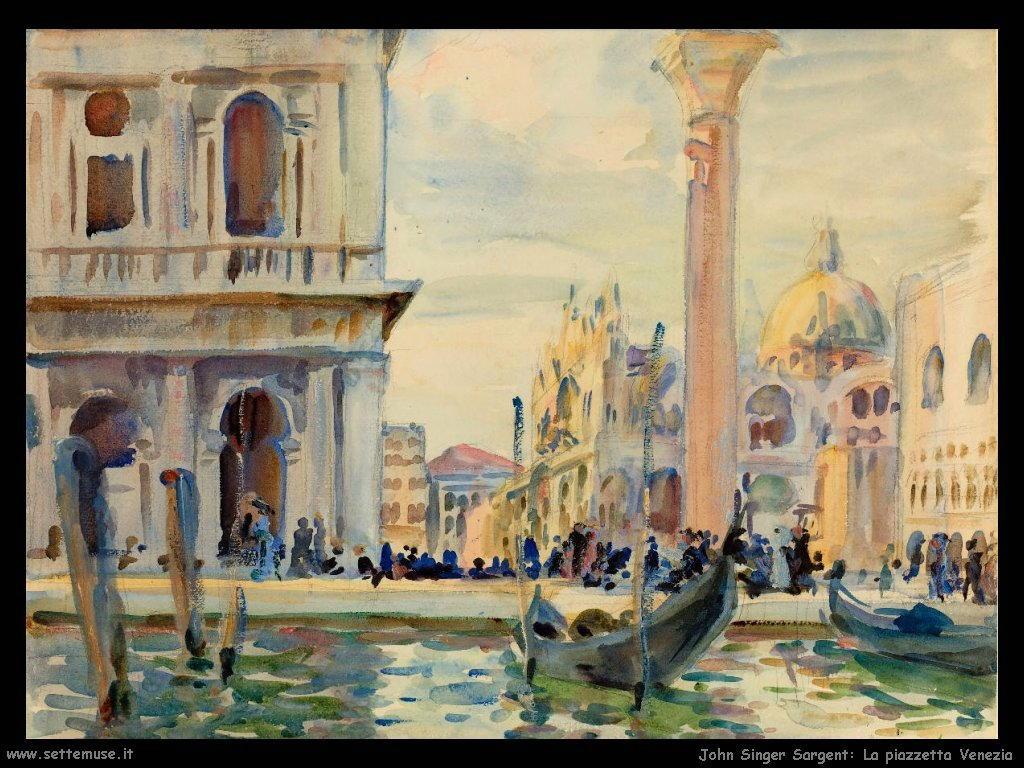John Singer Sargent la piazzetta venezia
