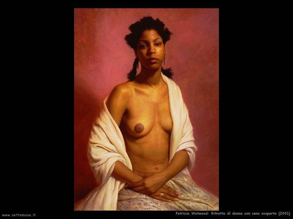 patricia_watwood_ritratto_di_donna_con_seno_scoperto_2001