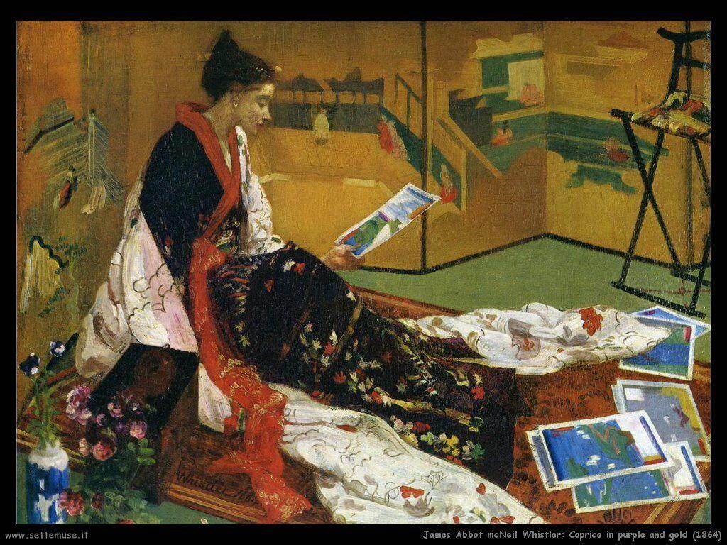 james_abbott_mcneill_whistler Capriccio rosso e oro_1864