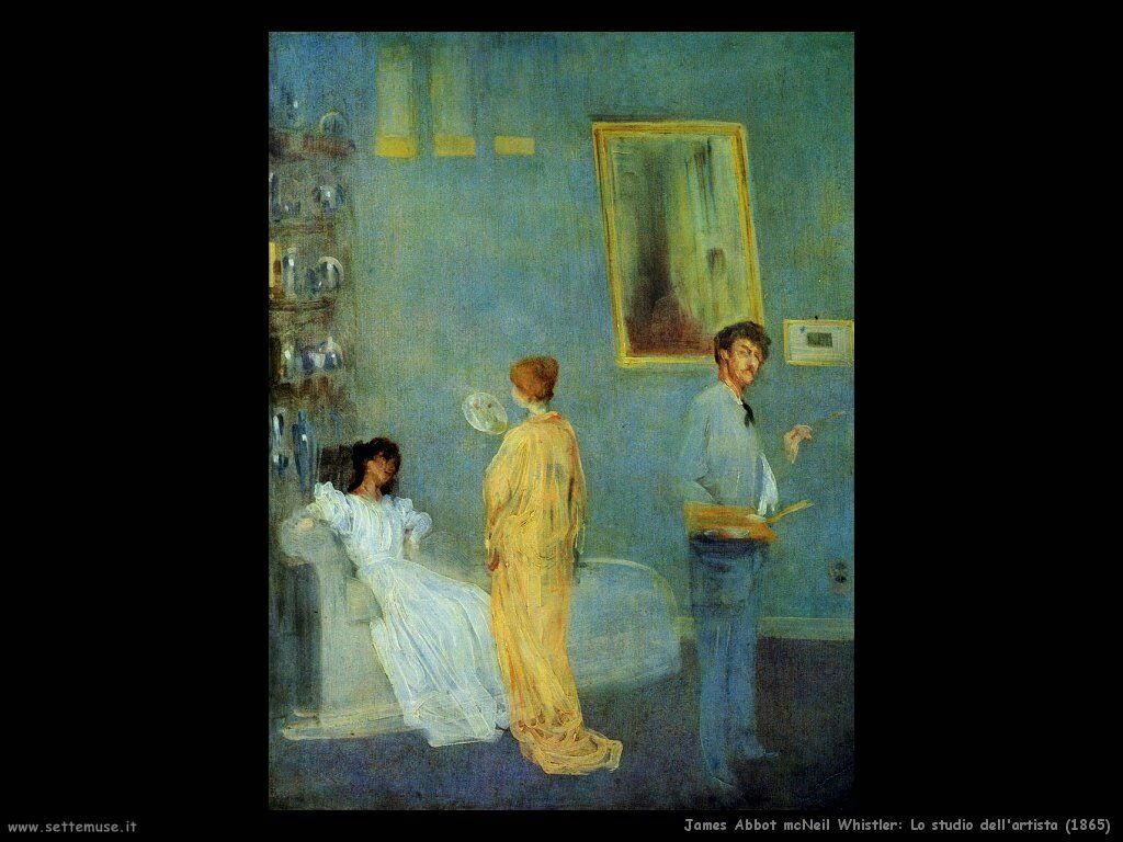 james_abbott_mcneill_whistler_lo studio dell'artista_1865