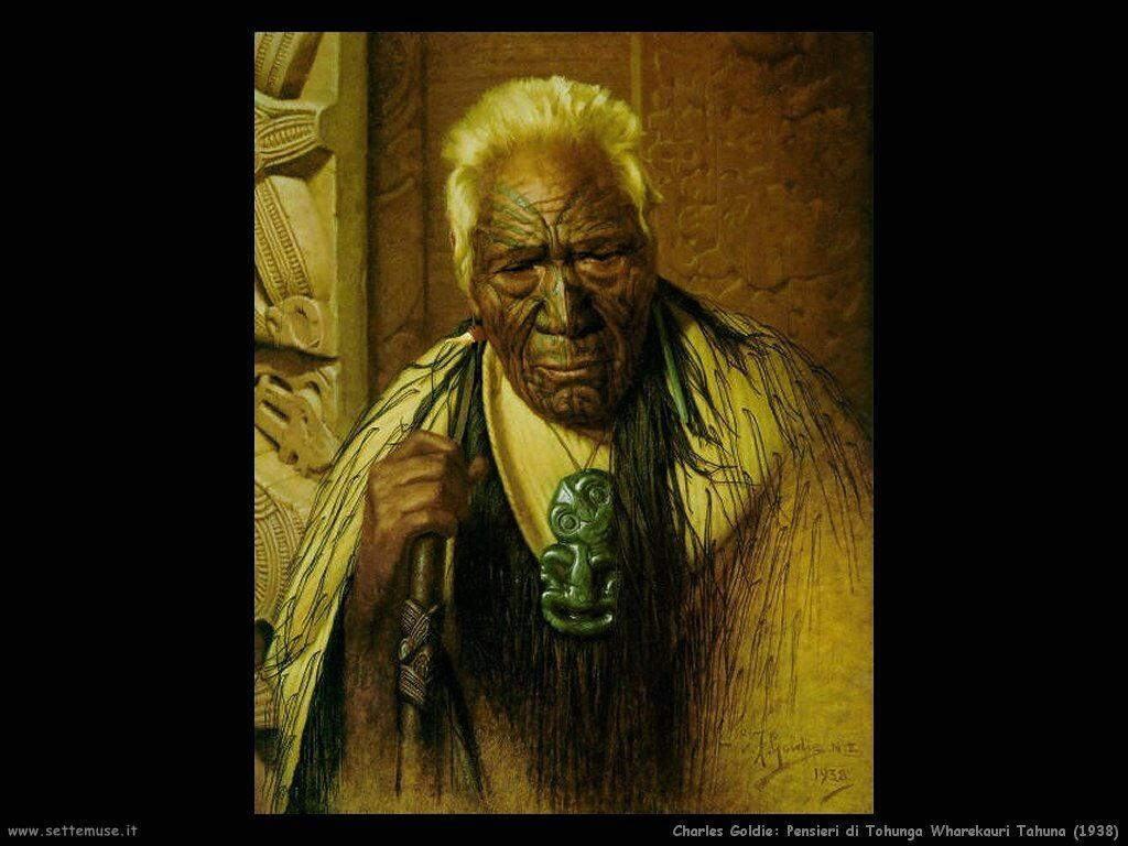 charles_goldie_pensieri_di_un_tohunga_wharekauri_tahuna_1938