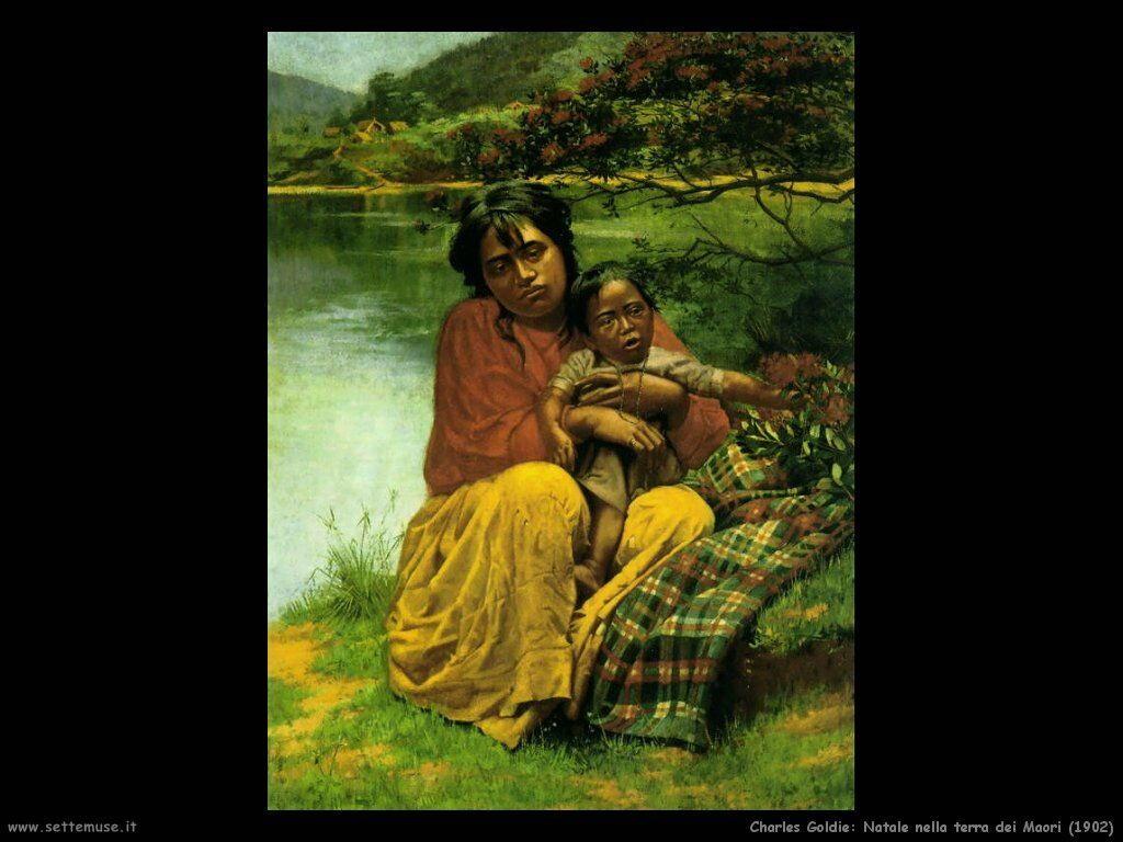 charles_goldie_natale_nella_terra_dei_maori_1902g