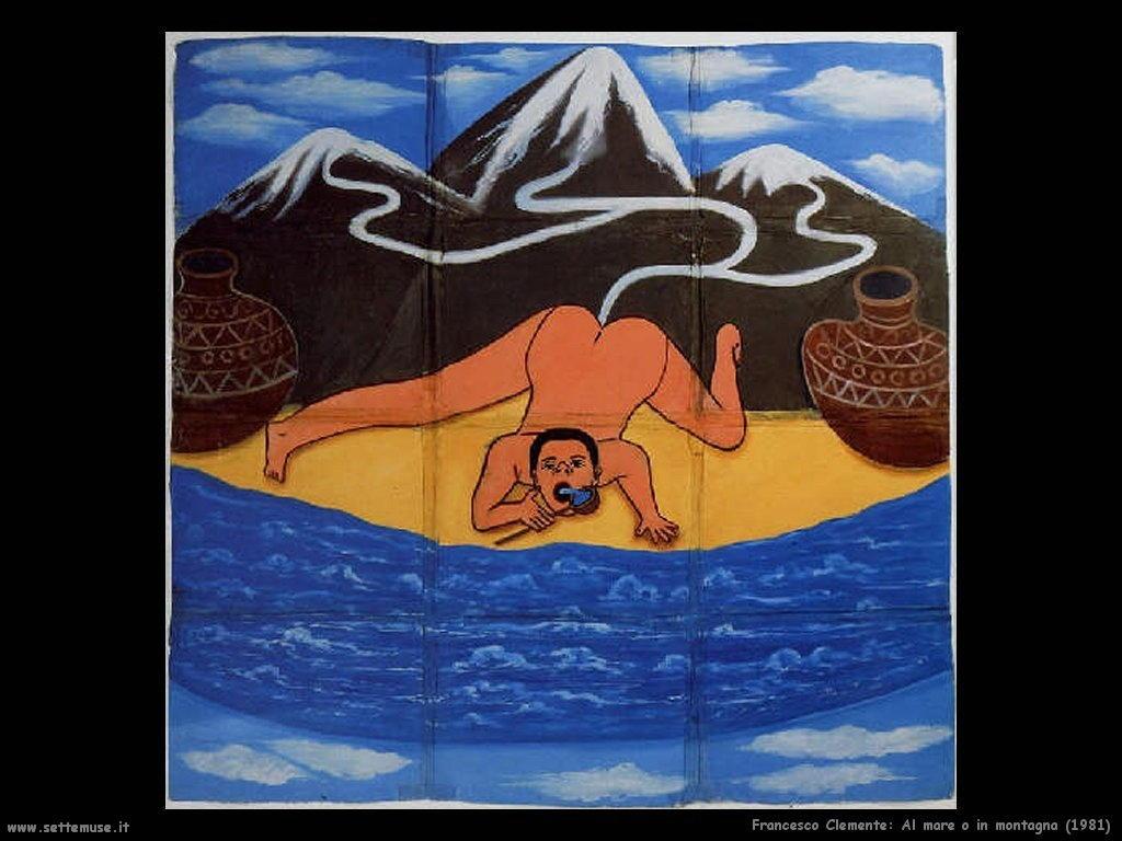 francesco_clemente_Al mare o in montagna (1981)