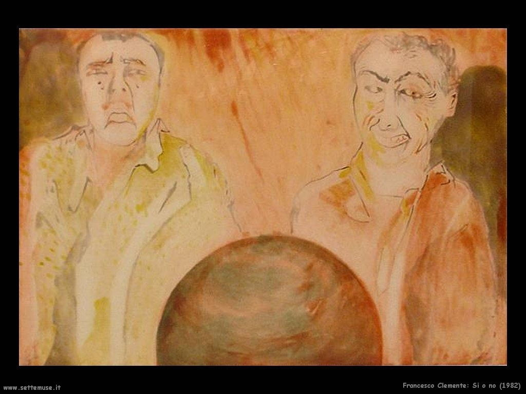 francesco_clemente_si_o_no_1982
