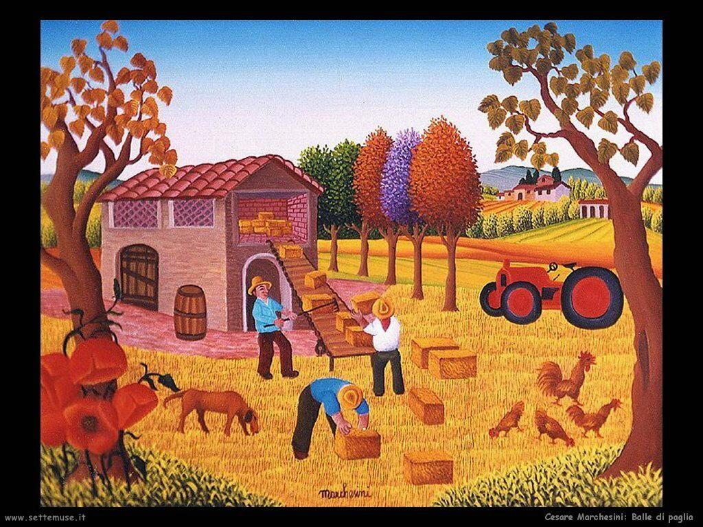 Cesare marchesini pittore biografia opere quadri for Piani di casa di balle di paglia gratis