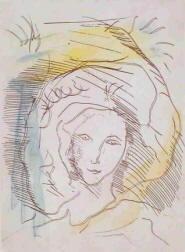 Schizzo di Ernesto Treccani Acquaforte 1988
