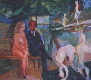 Dipinto di Ernesto Treccani  Paradiso terrestre 1962