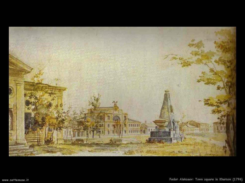Piazza della città a Kherson (1796) Fedor Alekseev