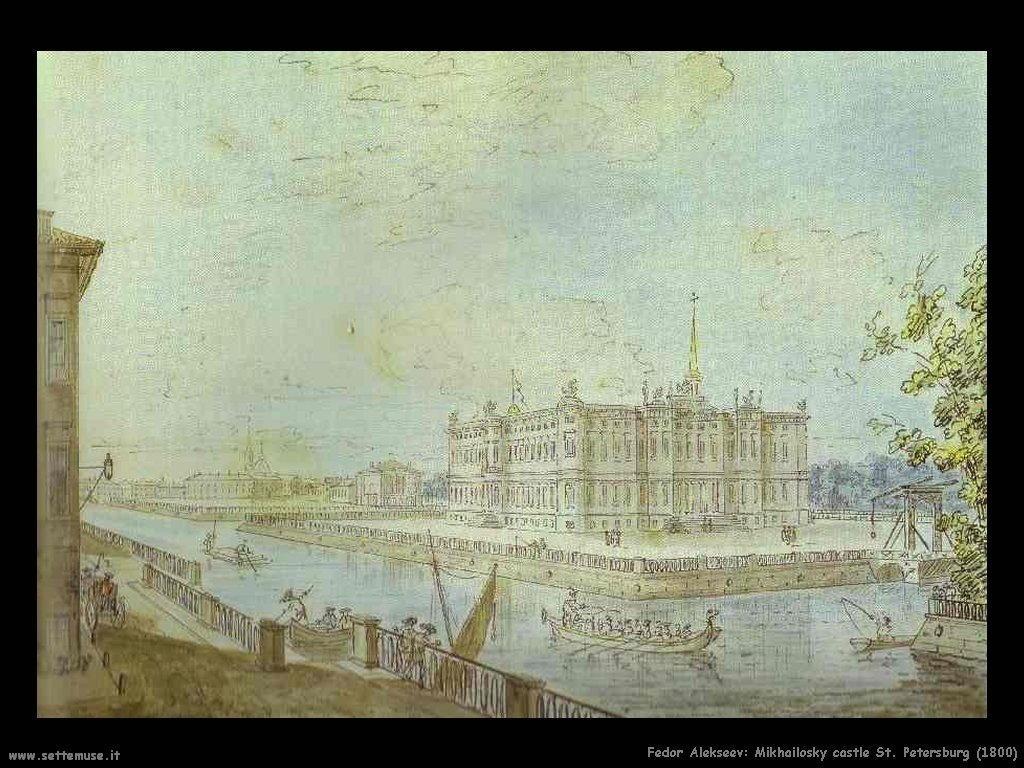 Mikhailovsky castello di San Pietroburgo (1800) Fedor Alekseev