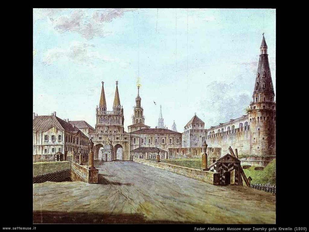 Mosca vicino Iversky cancello Kremlin (1800 Fedor Alekseev)