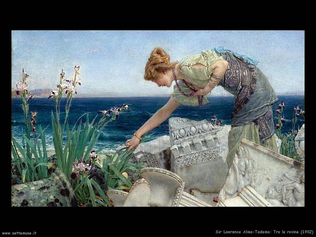 Sir Lawrence Alma-Tadema _tra_le_rovine_1902
