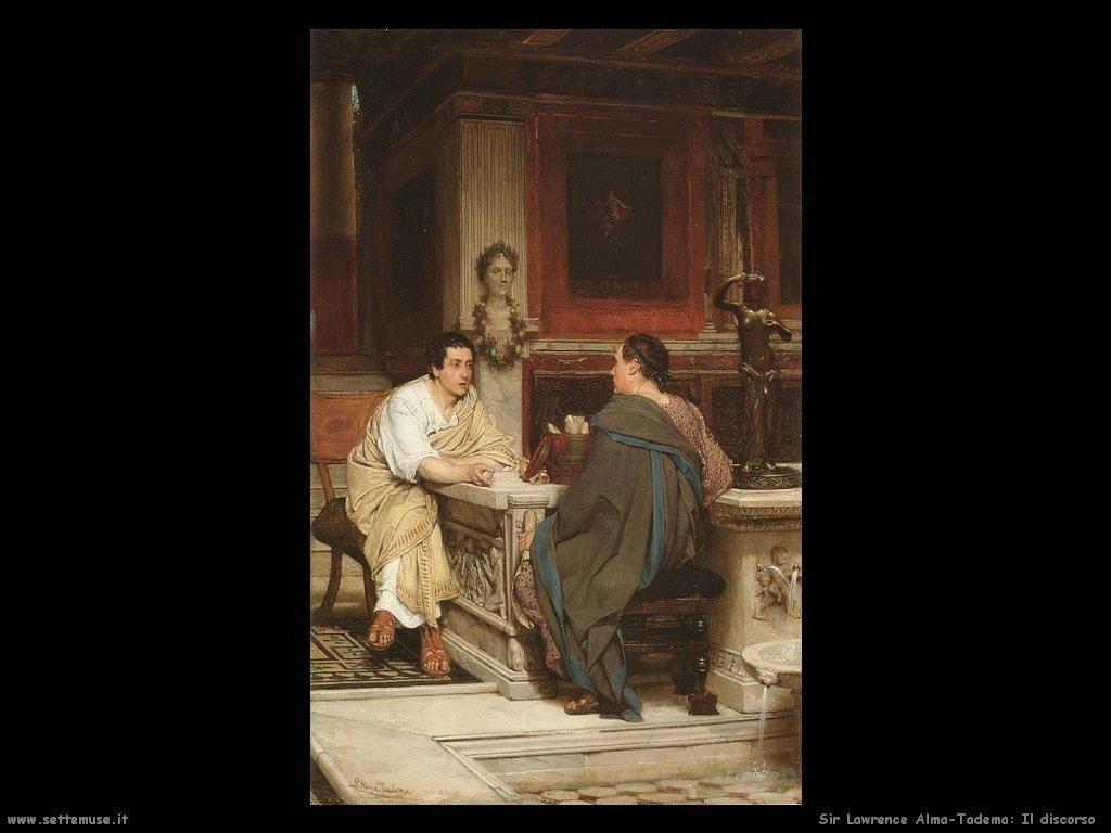 Sir Lawrence Alma-Tadema _il_discorso