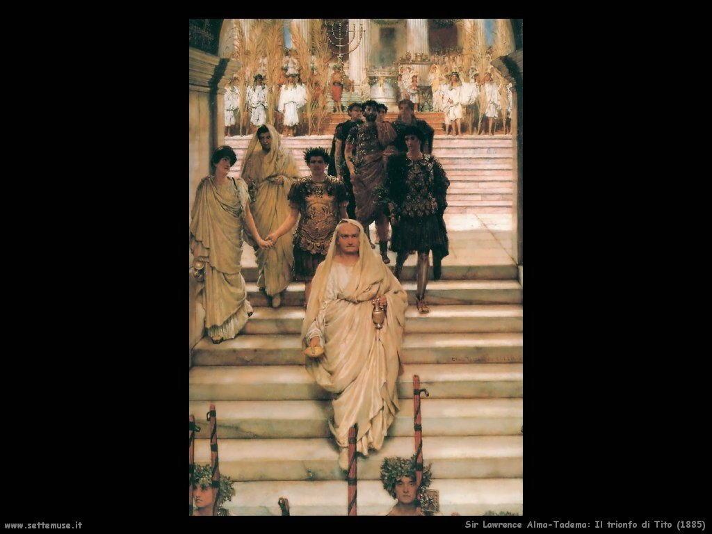 Sir Lawrence_il_trionfo_di_tito_1885