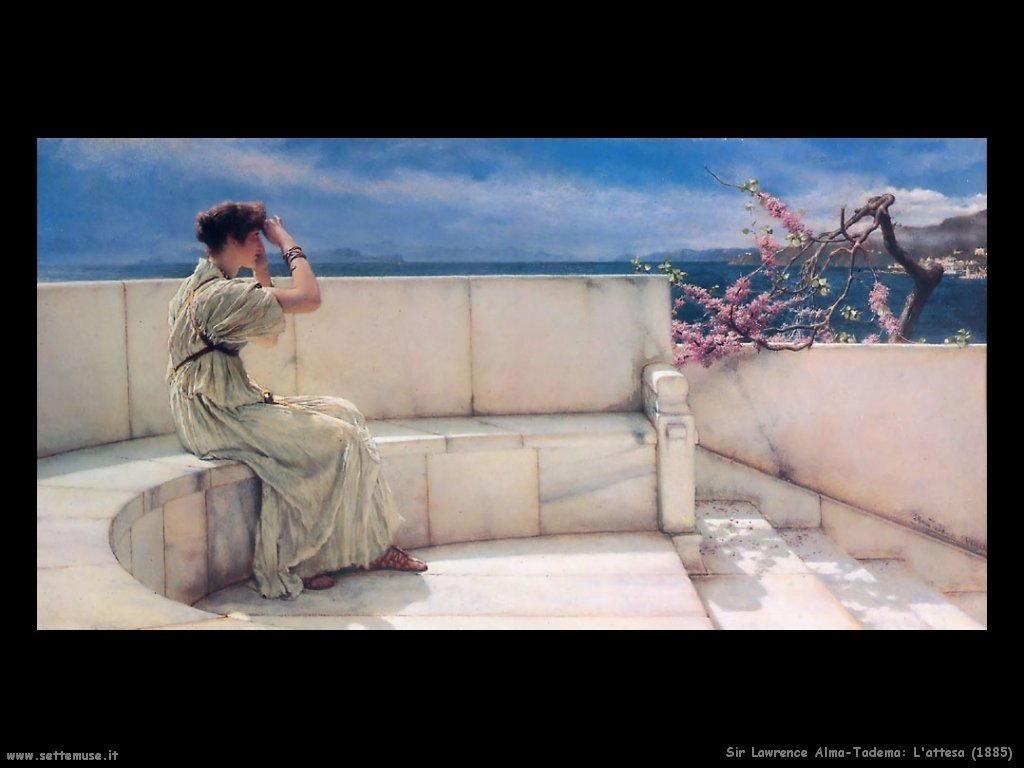 Sir Lawrence Alma-Tadema l attesa 1885