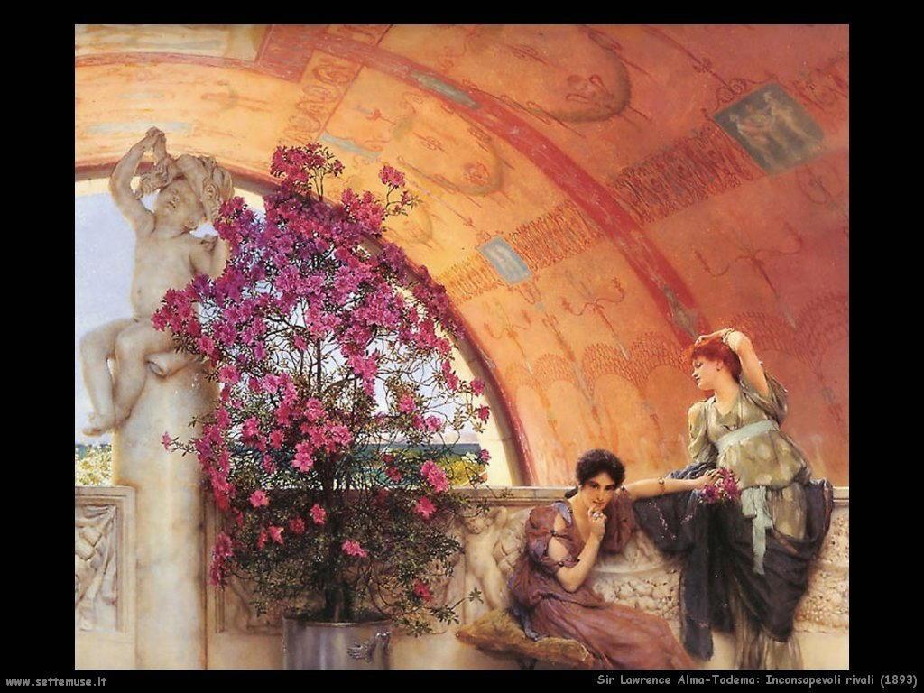 Sir Lawrence Alma-Tadema  rivali inconsapevoli_1893