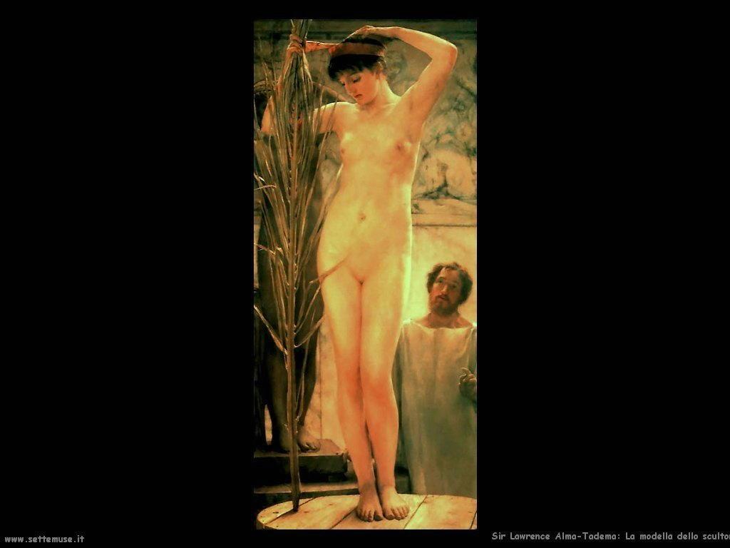 Sir Lawrence Alma-Tadema    la_modella dello scultore 1877