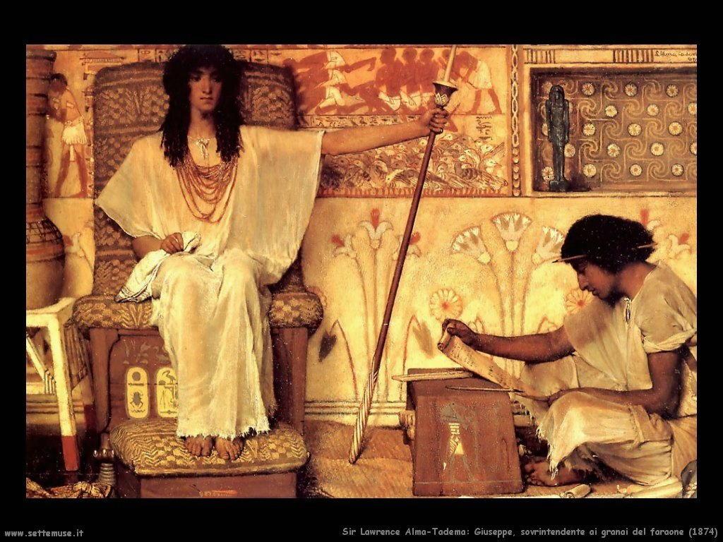 Sir Lawrence_giuseppe_e_i_granai_del_faraone_1874