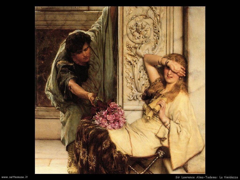 Sir Lawrence Alma-Tadema la timidezza
