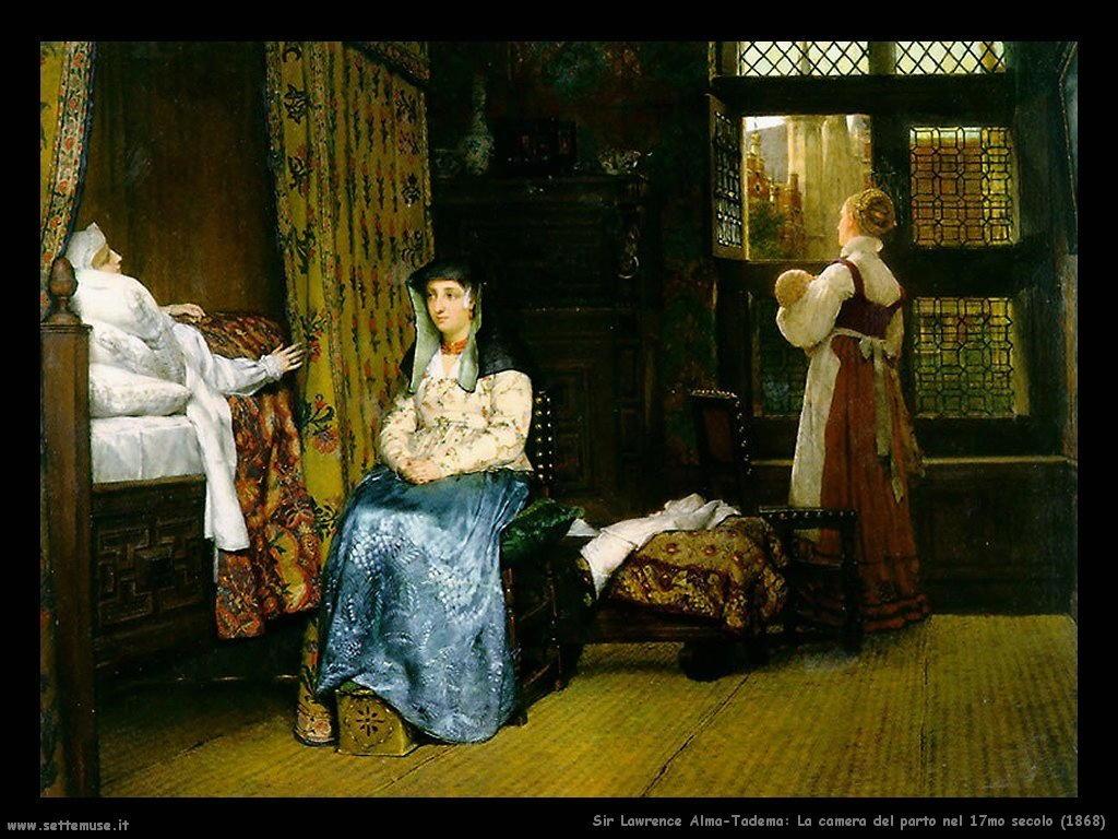 Sir Lawrence Alma-Tadema camera del parto 1868