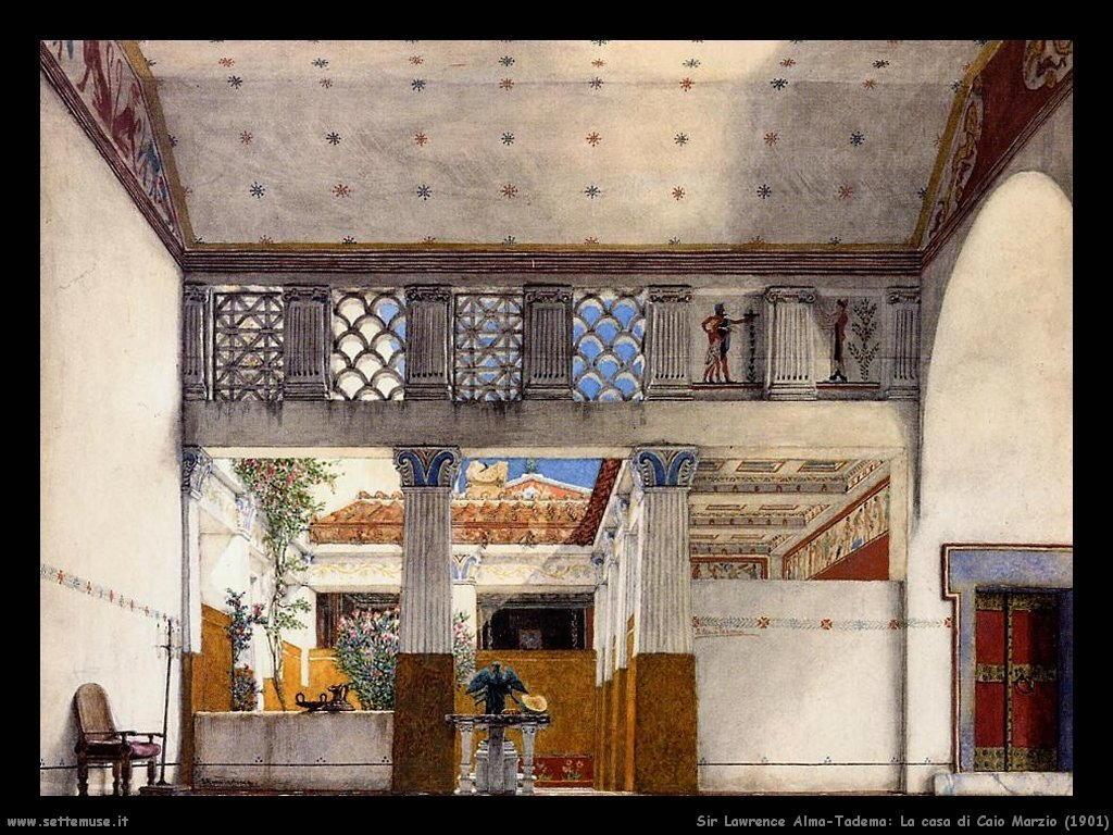 Sir Lawrence_la_casa_di_caio_marzio_1901