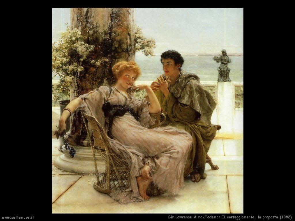 Sir Lawrence Alma-Tadema  corteggiamento la proposta 1892