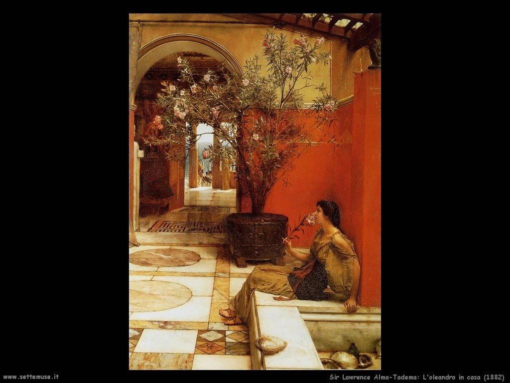 Sir Lawrence Alma-Tadema oleandro in casa 1882