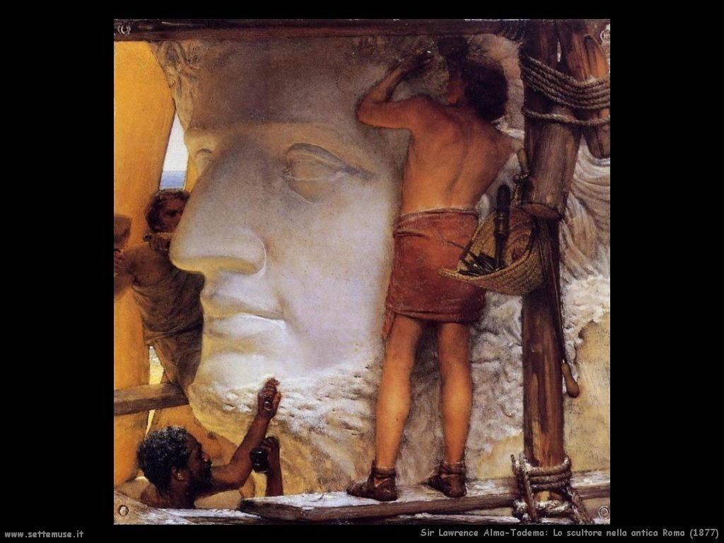 Sir Lawrence_scultore_nella_antica_roma_1877