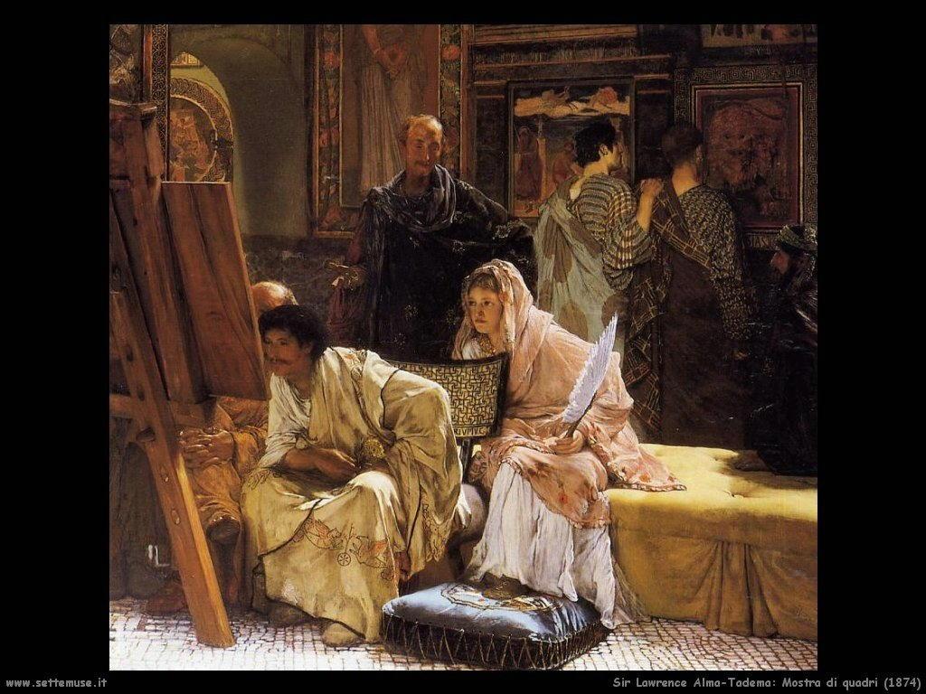 Sir Lawrence Alma-Tadema mostra di quadri 1874