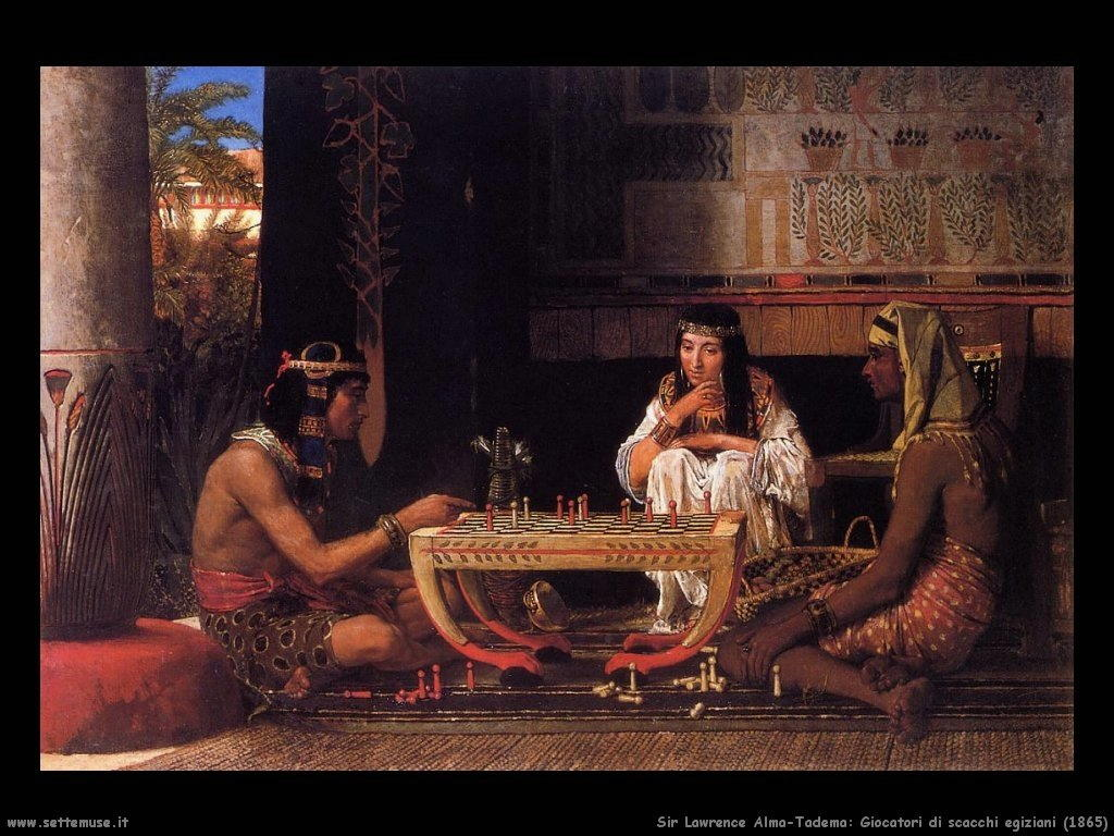 Sir Lawrence_giocatori_di_scacchi_egiziani_1865