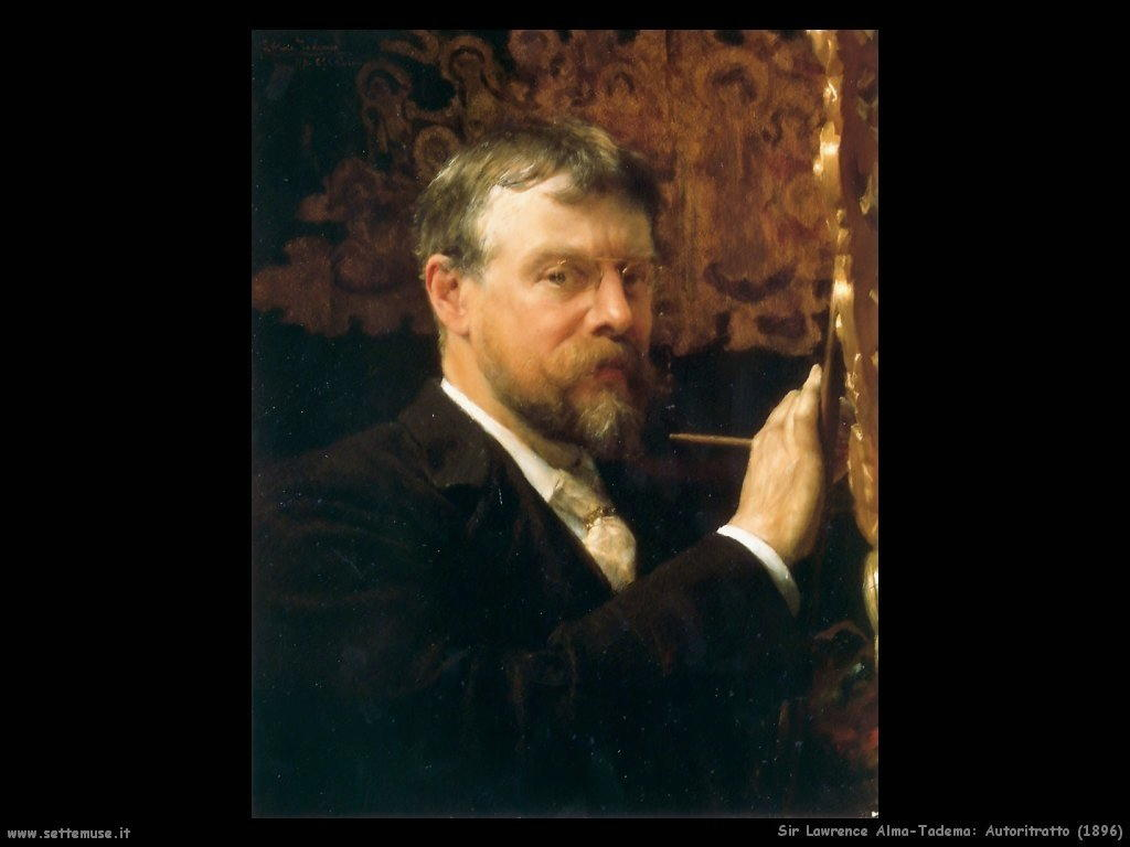 Sir Lawrence Alma-Tadema autoritratto1896