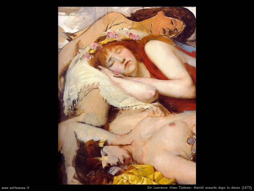 Sir Lawrence Alma-Tadema  menidi esauste dopo la danza 1873