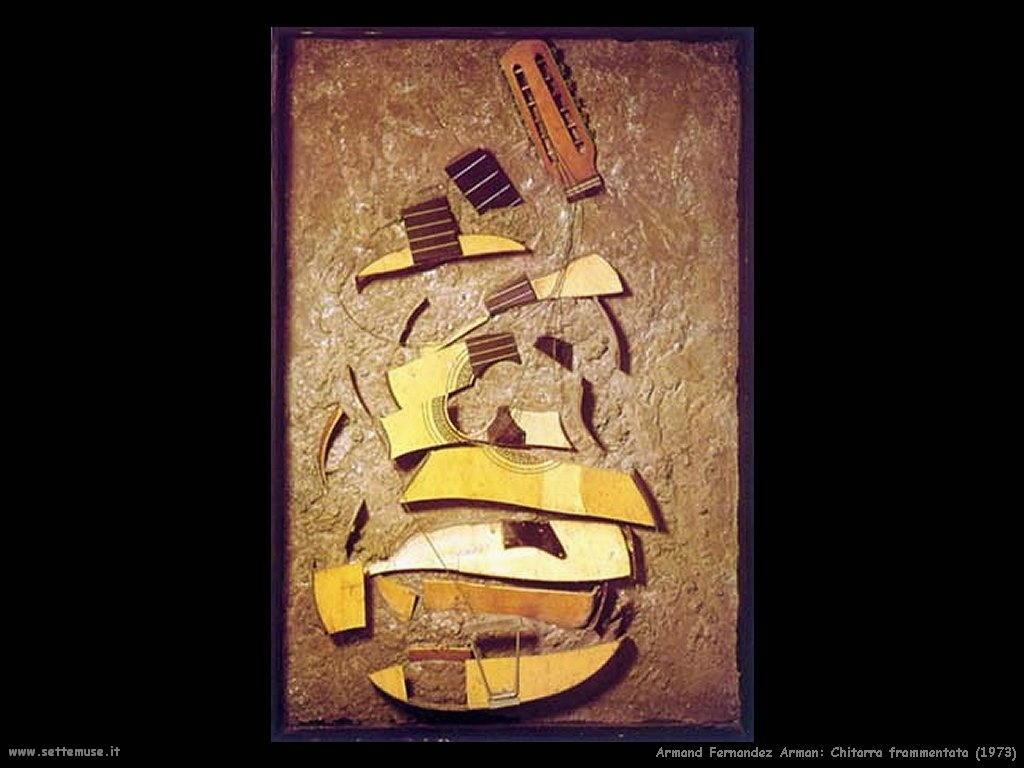 Pierre Fernandez Arman_chitarra_frammentata_1973