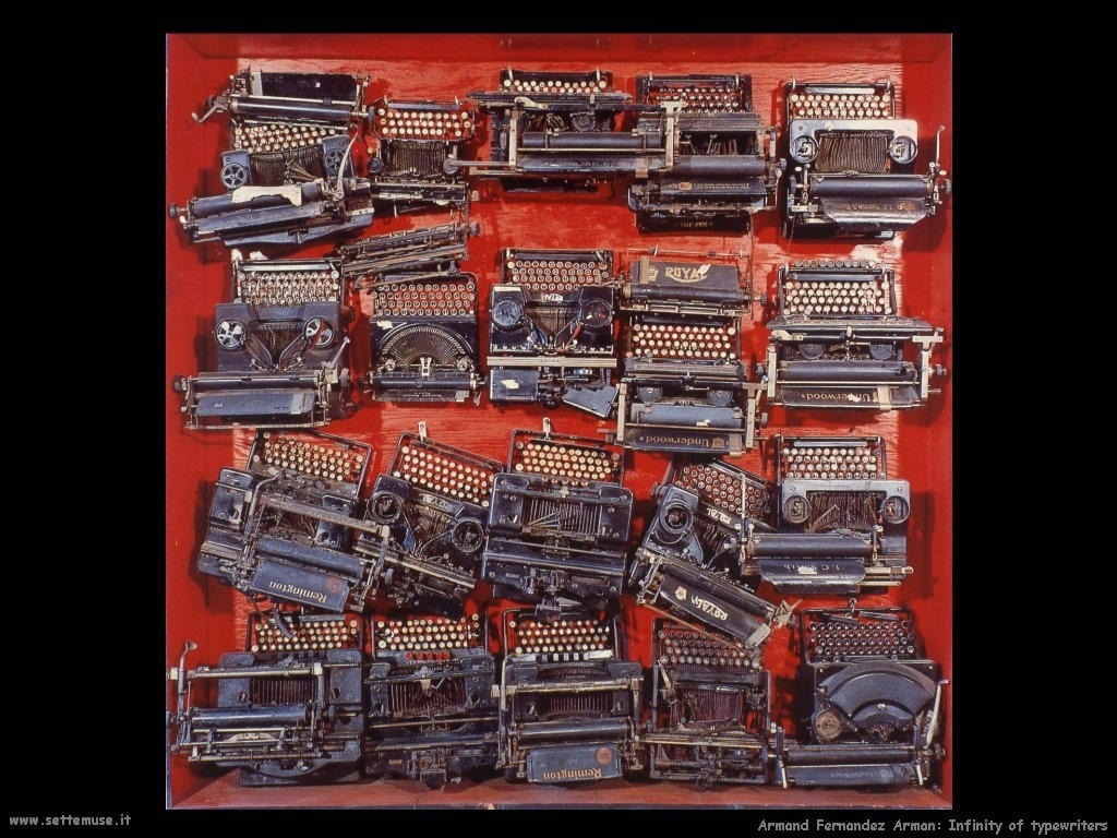 Pierre Fernandez Arman_Infinite macchine da scrivere