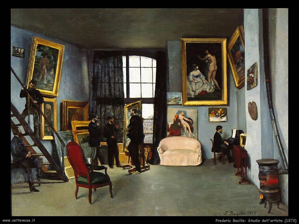 Frederic Bazille_studio_dell_artista_1870