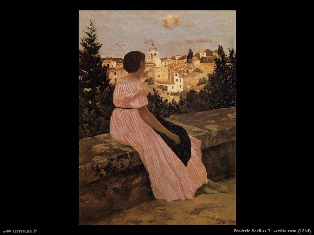 Frederic Bazille_il_vestito_rosa_1864